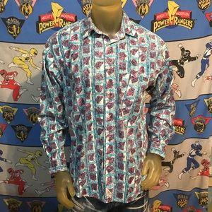Vintage Faded Levi's Western Cowboy Button Shirt M